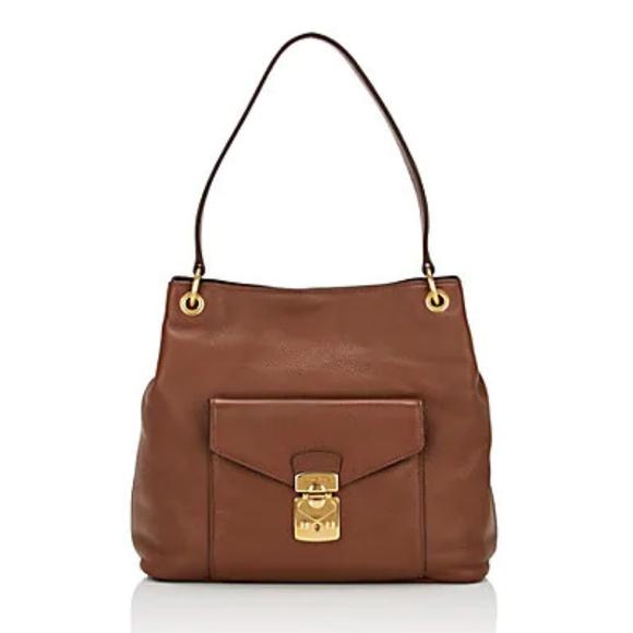 f853aa7d1034 Miu Miu Leather Shoulder Bag NWT